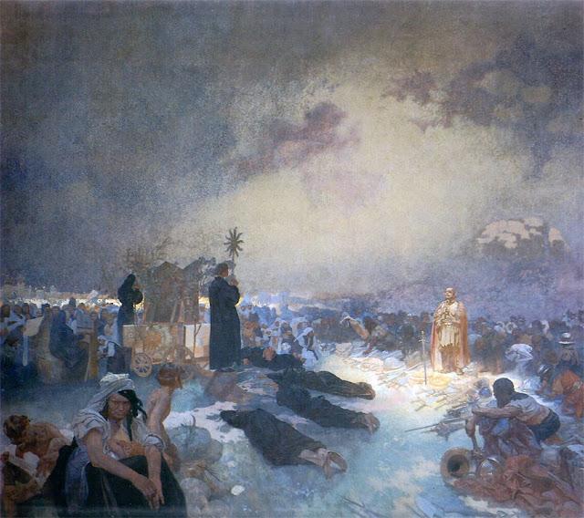 Альфонс Муха - Славянский эпос. После битвы на Виткове, 1916