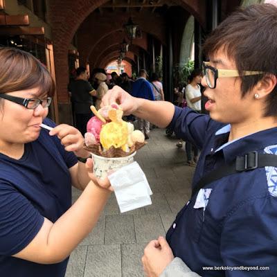 time for ice cream at Miyahara in Taichung, Taiwan