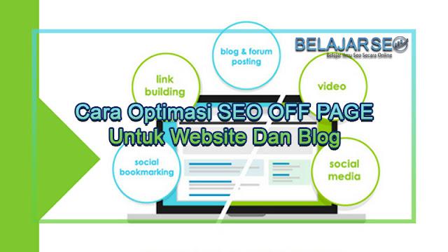 6 Langkah Optimasi SEO Off Page Untuk Website dan Blog
