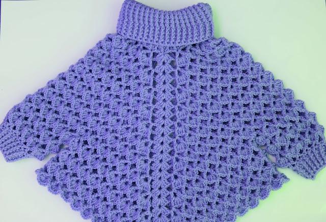2 -Crochet Imagen Poncho con mangas a crochet y ganchillo por Majovel Crochet