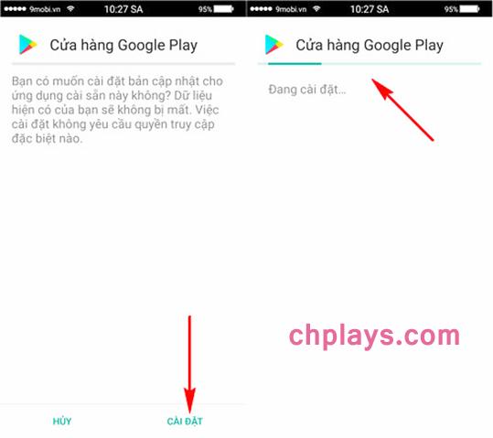 Cập nhật và Cài Cửa Hàng Ch PLay trên bất kỳ máy Samsung Android nào d