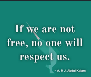 """If we are not free, no one will respect us"""