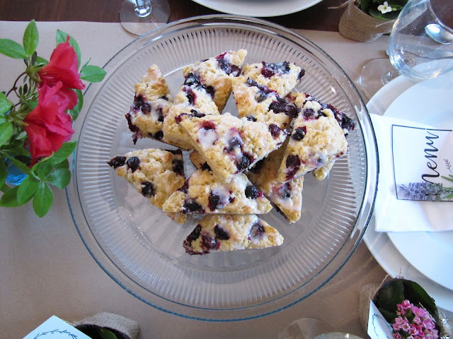 lemon blueberry scone recipe with lemon glaze