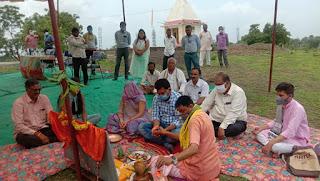 नल जल योजना का भूमि पूजन विधायक डॉ. हीरालाल अलावा द्वारा  किया गया