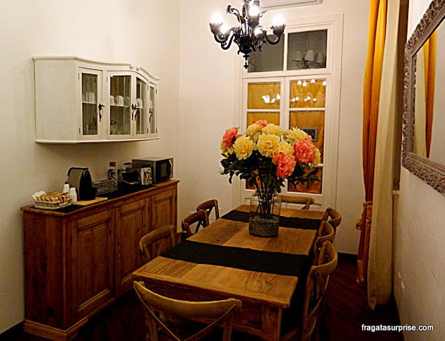 Sala do café da manhã do Apartamento do Testaccio Village Guesthouse, em Roma