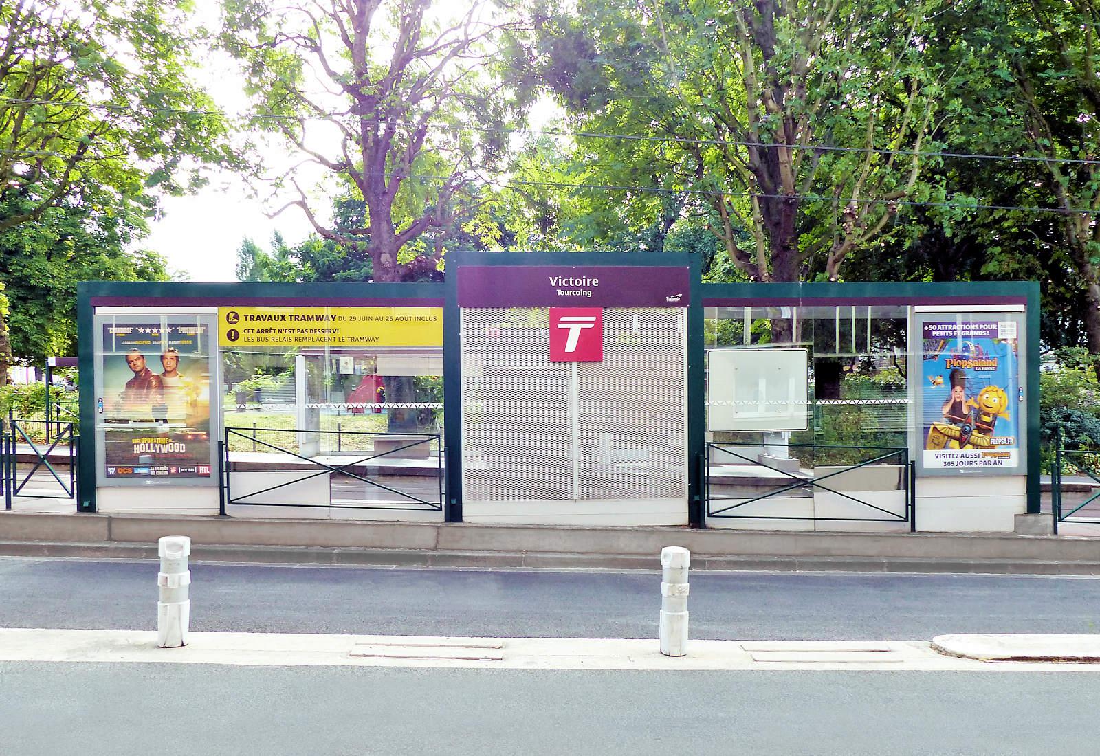 Station Tramway Victoire, Tourcoing, place de la Victoire.