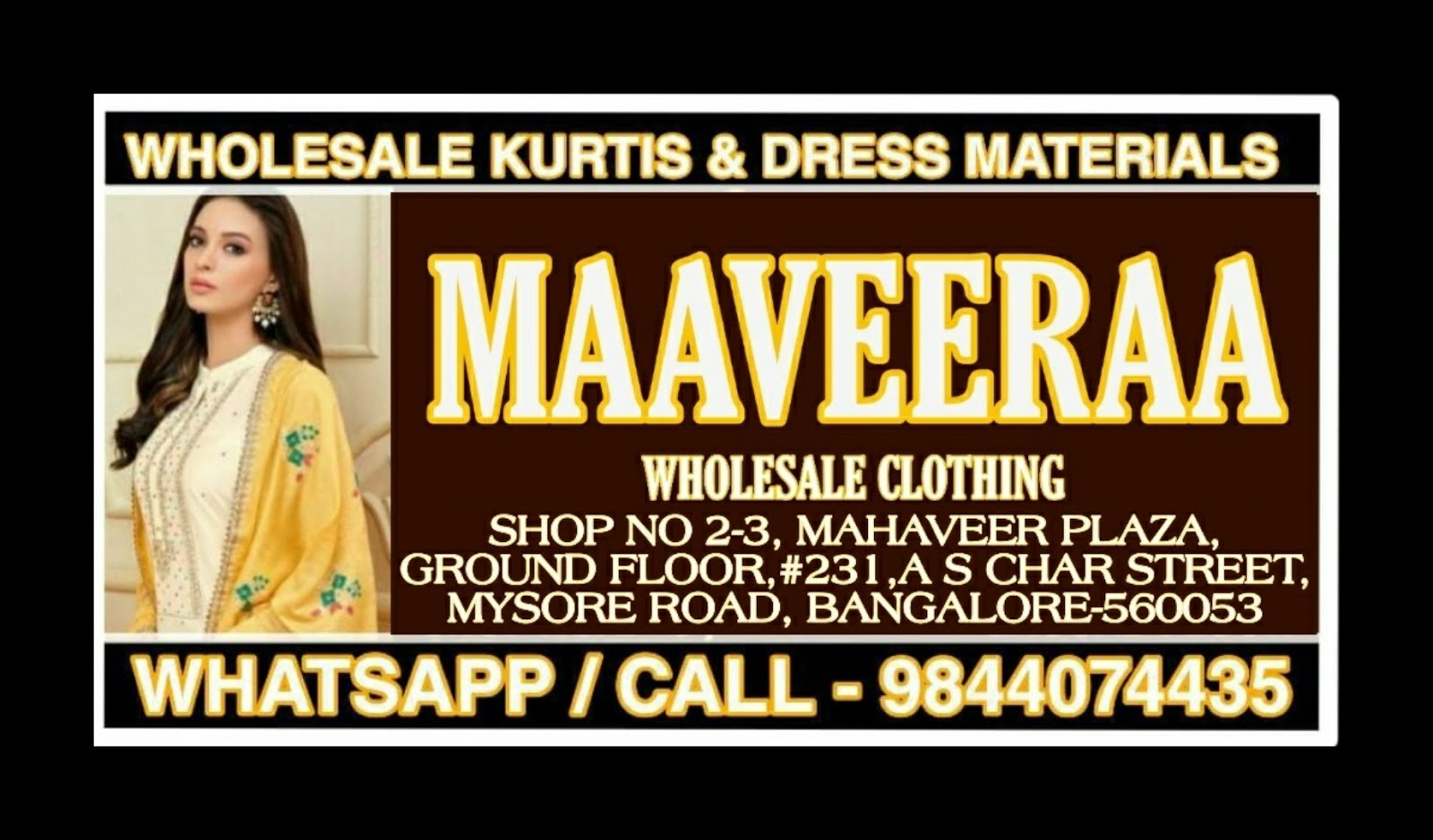(VS-GROUP)MAAVEERAA WHOLESALE CLOTHING-KURTIS AND DRESS MATERIALS