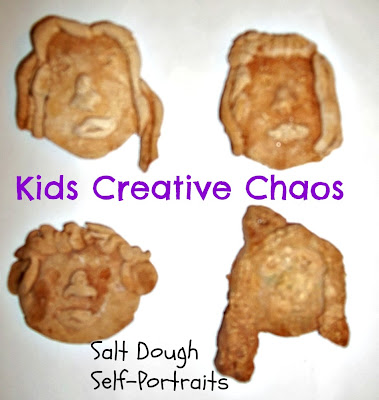 How to make salt dough self portraits Christmas Decorations