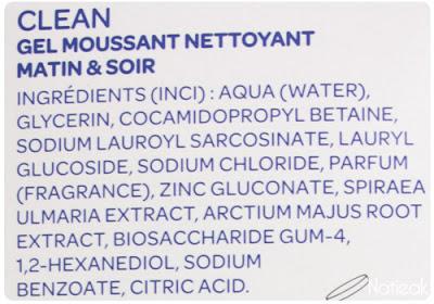composition Clean Gel moussant nettoyant de iSkin³