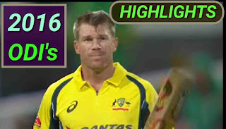 2016 ODI's Matches Highlights