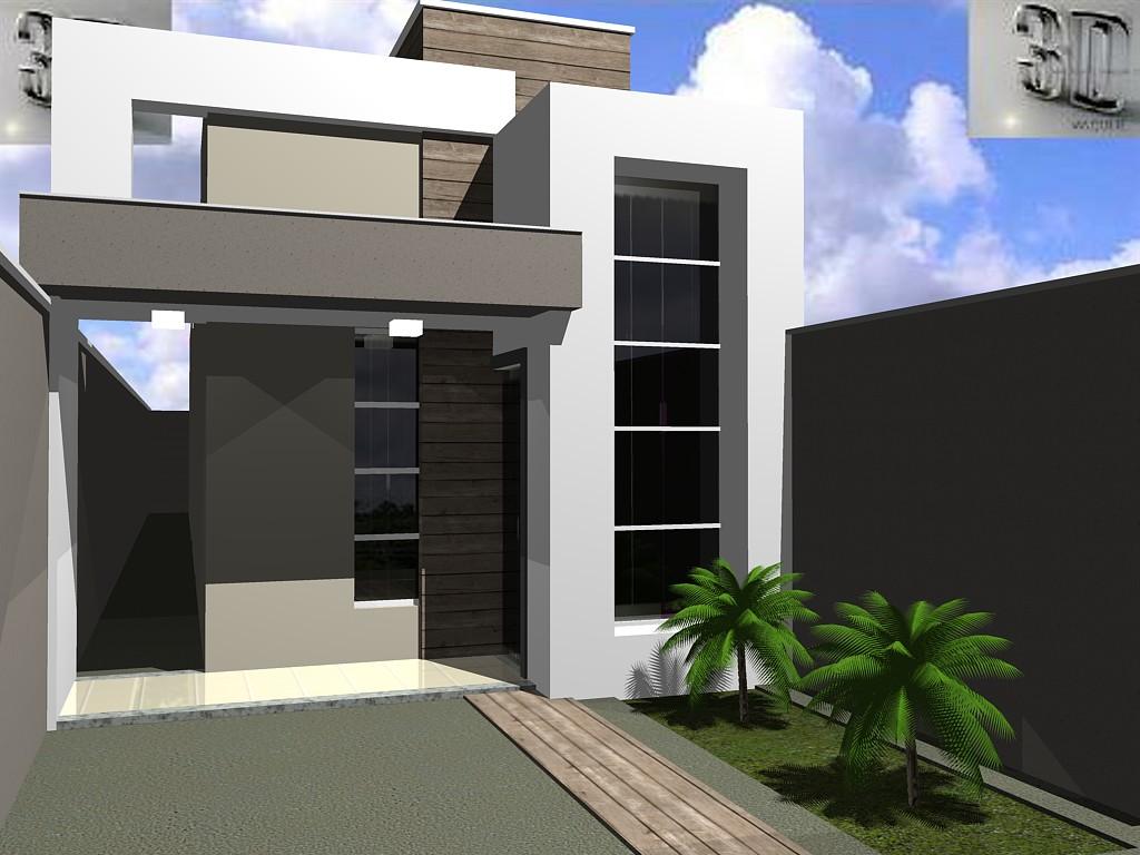 3danilo maquetes eletr nicas 3d fachadas de casas for Fachadas de frente de casas