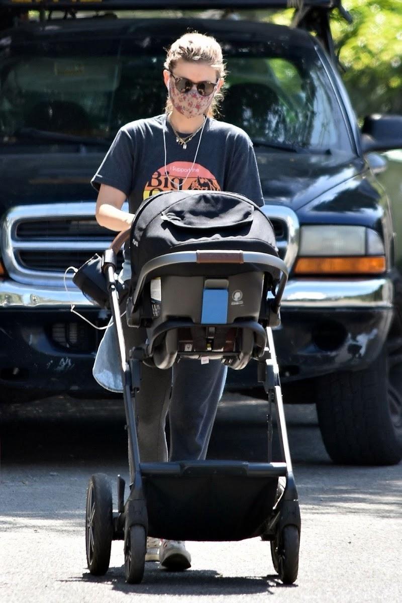 Kate Mara Outside in Los Feliz 9 Jul -2020