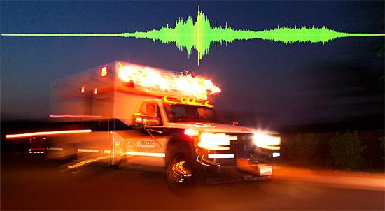 Grito de terror - Sirenes de ambulâncias