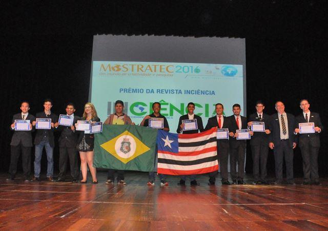 Alunos da rede estadual de Imperatriz recebem prêmios em Nova Hamburgo-RS. Foto: Mostratec