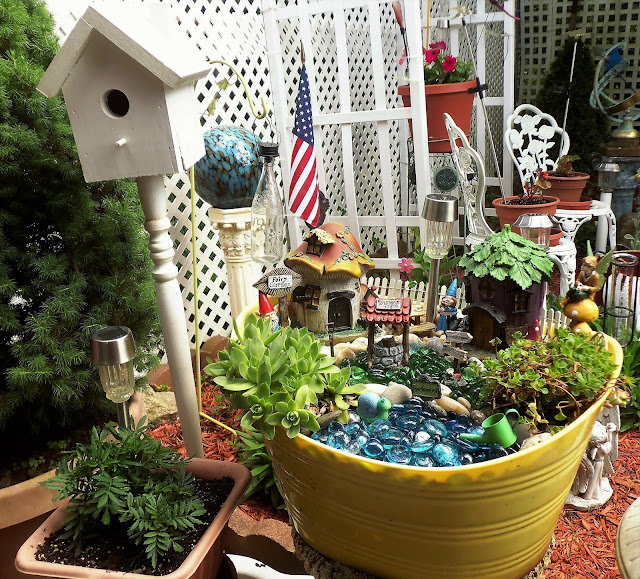 And That Is How My Fairy Garden Tubs Look For This Summer Season.