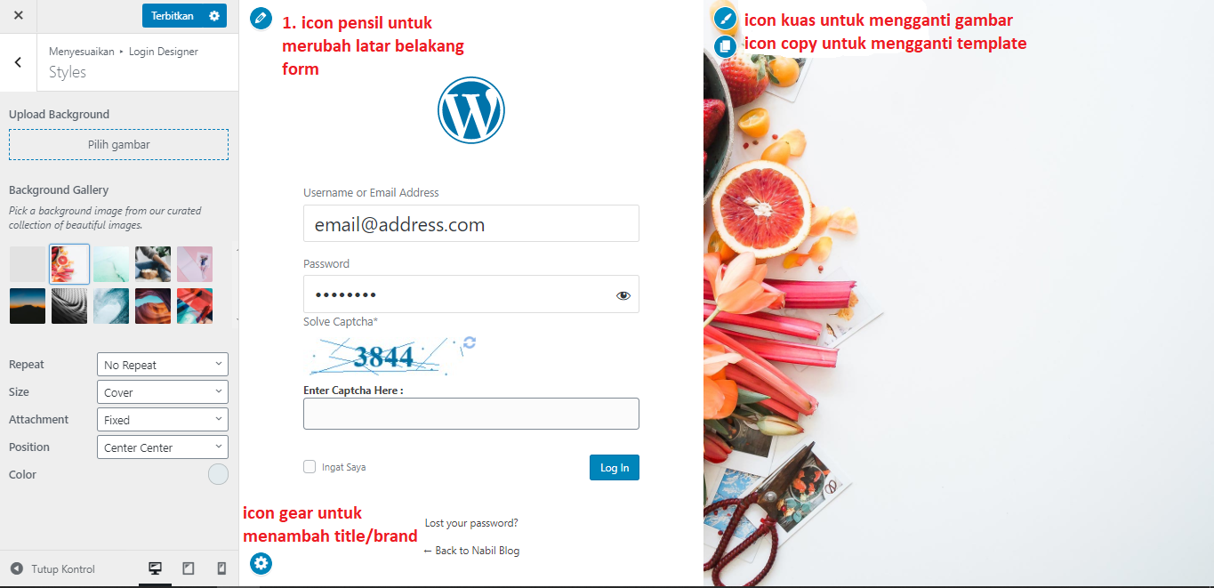 mengganti halaman login wordpress