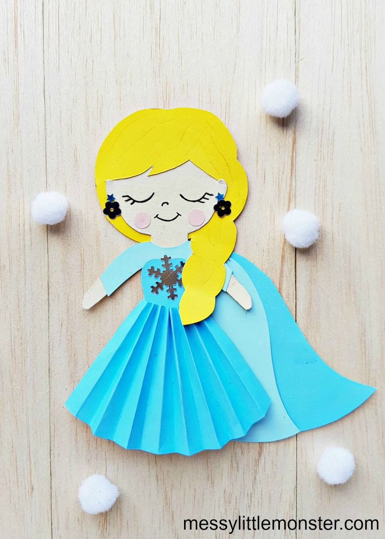 Elsa paper craft for kids