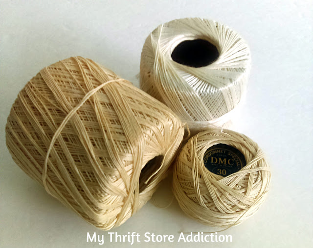 Thrift store crochet thread