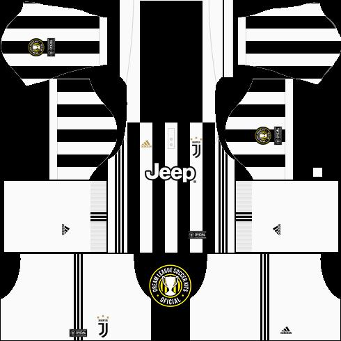 huge discount d33ac c4707 Dream League Soccer Kits: Juventus (Completo) 17/18 - DLS17 ...