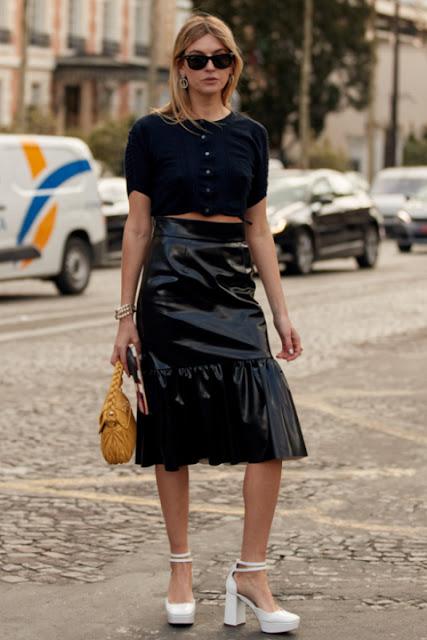 С чем носить кожаную юбку 3-2