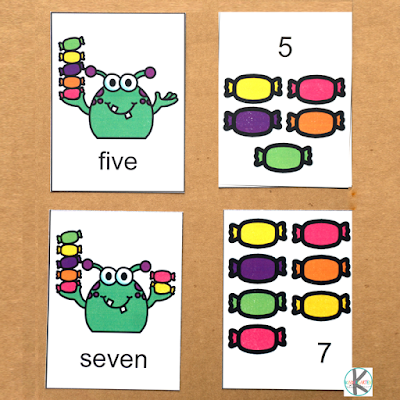 Monster Matching Game pin square 1