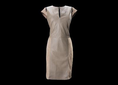Porsche Design Raw Tec Leather Shift Dress Woman €1750