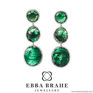 Crown Princess Victoria Ebba Brahe Jewellery Green Earrings