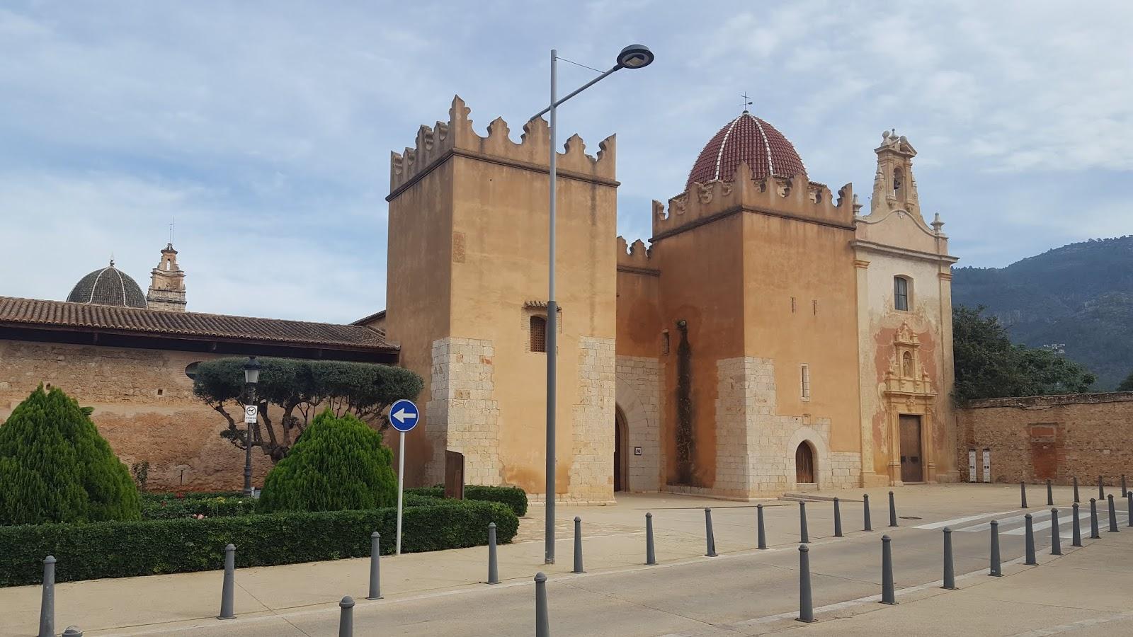 Entrance to the Monastery of Saint Mary of la Valldigna, Simat, Valencia