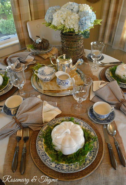Rosemary & Thyme- Thanksgiving Table Setting-From My Front Porch To Yours- Treasure Hunt Thursday