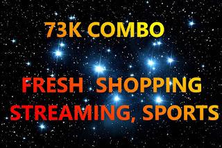 73K COMBO ⭐ FRESH! 〽️ SHOPPING, STREAMING, SPORTS, MUSIC