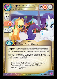 My Little Pony Applejack & Rarity, Odd Couple Seaquestria and Beyond CCG Card