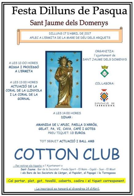 Esguard de Dona - Aplec del Dilluns de Pasqua a l'Ermita dels Arquets a Sant Jaume dels Domenys, dilluns 17 d'abril de 2017