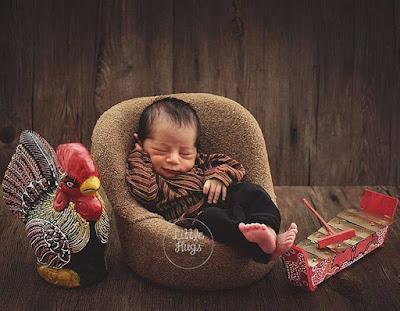 Newborn Photography dengan tema adat jawa