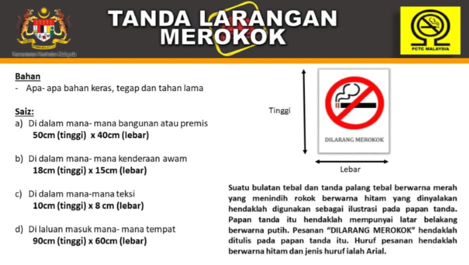 Tanda larangan merokok