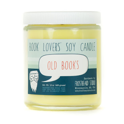 Book Lover's Soy Candle: Old Books