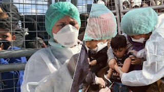 """بالفيديو: تركيا تقوم بتلقيح أطفال طالبي اللجوء ضد """"الحصبة"""" و""""الشلل"""""""