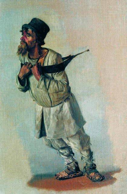 Василий Васильевич Верещагин - Бурлак, держащийся руками за лямку. 1866