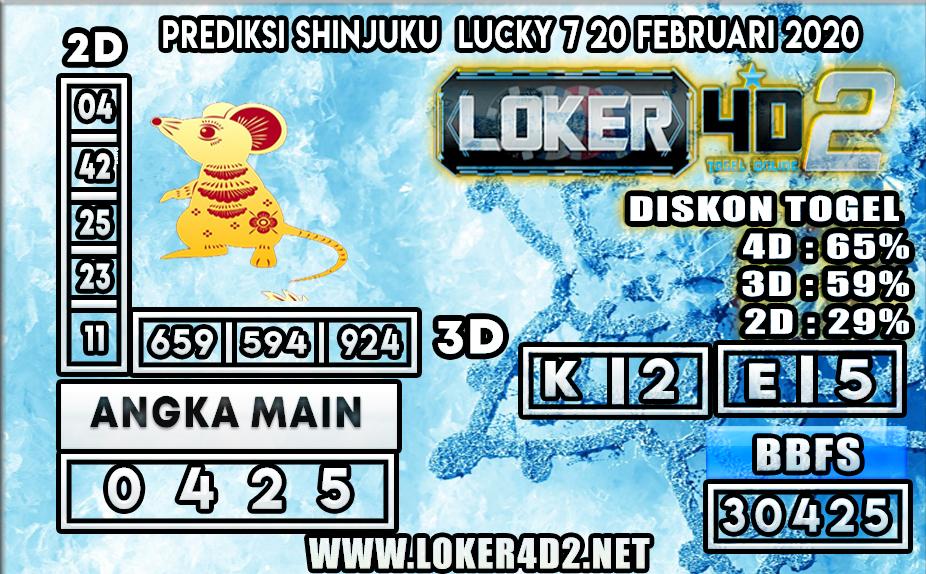 PREDIKSI TOGEL SHINJUKU LUCKY7 LOKER4D2 20 FEBRUARI 2020