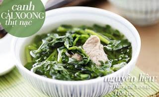 Canh cải xoong thịt nạc - Món Việt dễ làm.