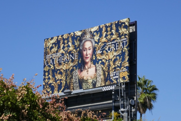 Catherine the Great HBO series billboard