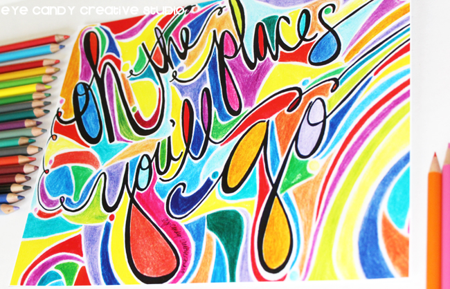 colored pencils, dr seuss quote, bright colors, teacher classroom decor