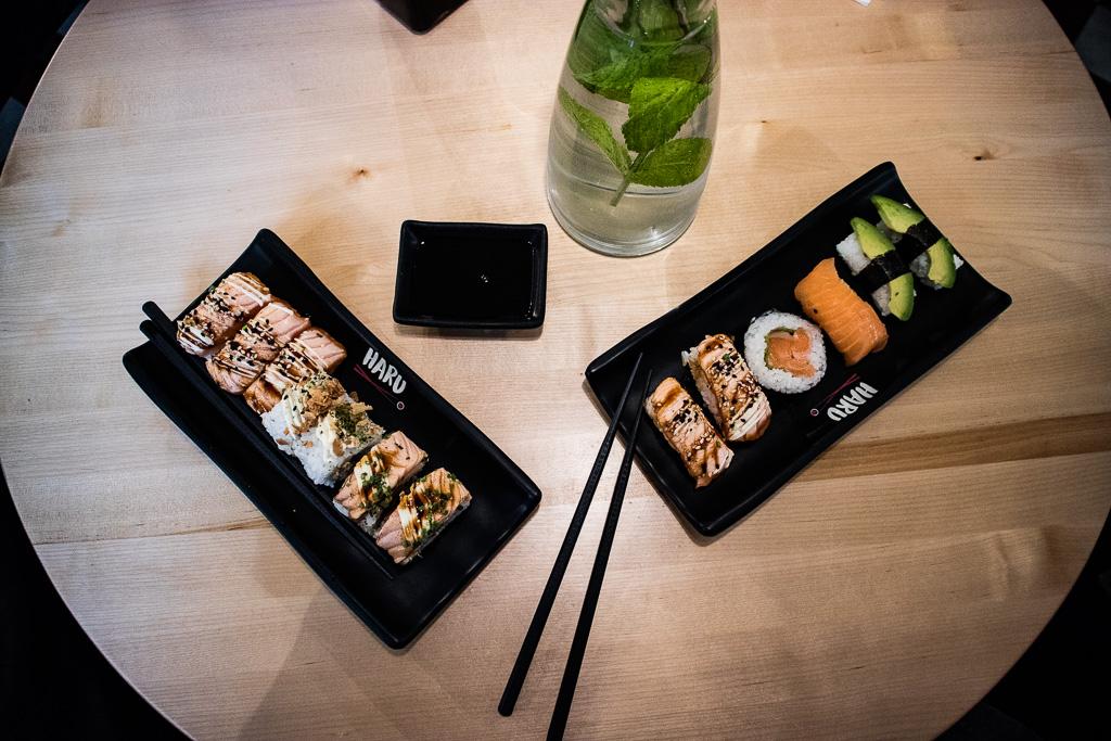 Haru sushi, sushi, Haru, lounas,