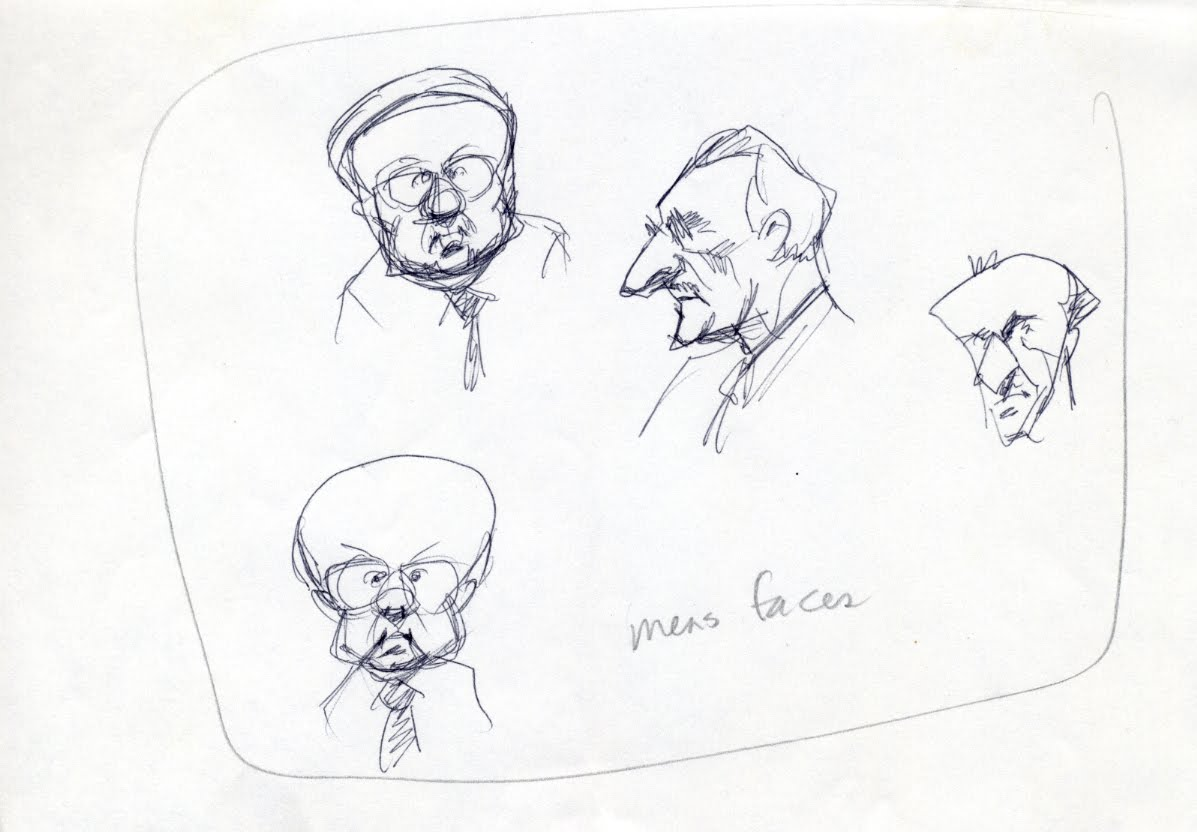 Scribble Junkies: Men's Faces