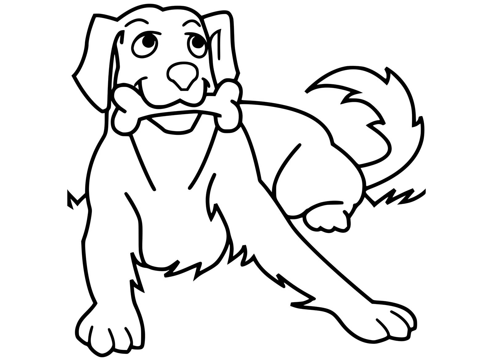 Dogs coloring pages 75