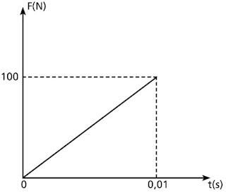 (CEFET-MG) Uma bola de tênis, de massa igual a 100 g e com velocidade de 30 m/s na direção horizontal, desloca-se ao encontro de uma raquete