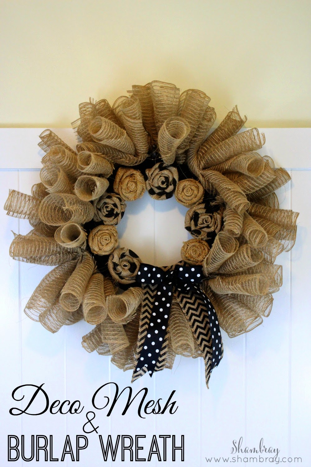 burlap flowers, decorative burlap ribbon, ribbon, hot glue, wire