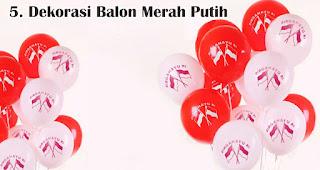 Dekorasi Balon Merah Putih merupakan salah satu ide dekorasi 17an unik yang mudah dibuat