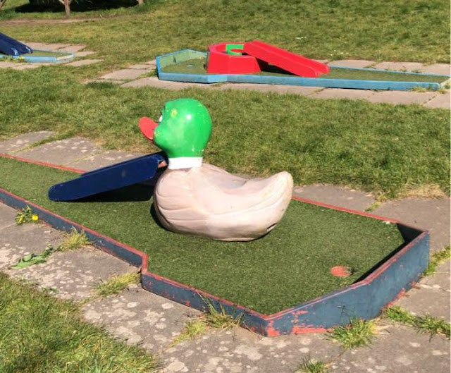 Crazy Golf at Tuckton Tea Gardens in Bournemouth. Photo by Matt Dodd, April 2021