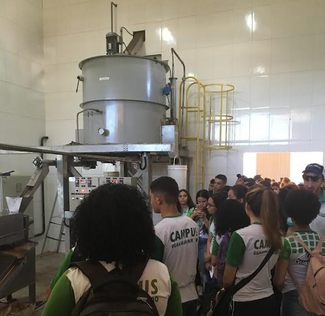 Alunos do Curso Técnico em Biotecnologia fazem visita técnica a projeto da Capital