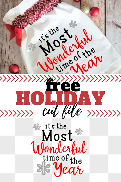Celebrate the best season with the free it's the most wonderful time of the year svg.